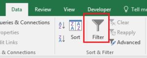 Enabling Excel Filters