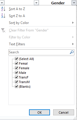 Sample Text Filters