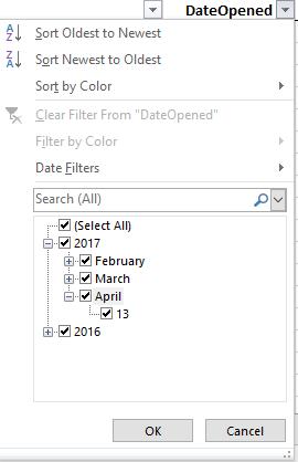 Sample Date Filters